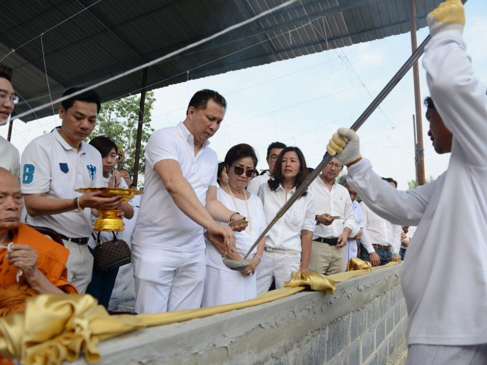 Merit Making Ceremony of Casting Buddha Image